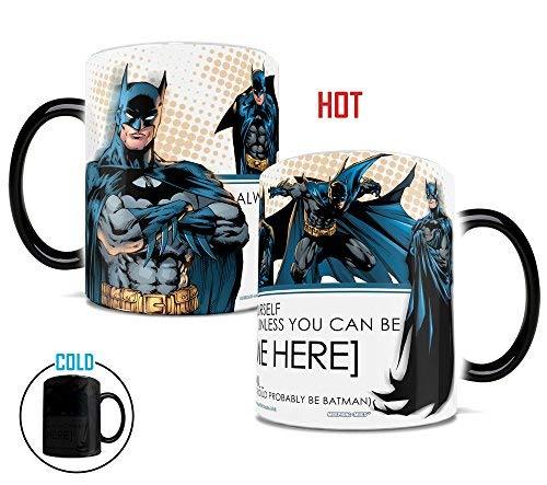 Morphing Mugs DC Comics Personalized Be Yourself Unless You can Be Batman Heat Reveal Ceramic Coffee Mug - 11 Ounces