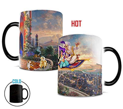 Morphing Mugs Thomas Kinkade Disneys Aladdin Painting Heat Reveal Ceramic Coffee Mug - 11 Ounces