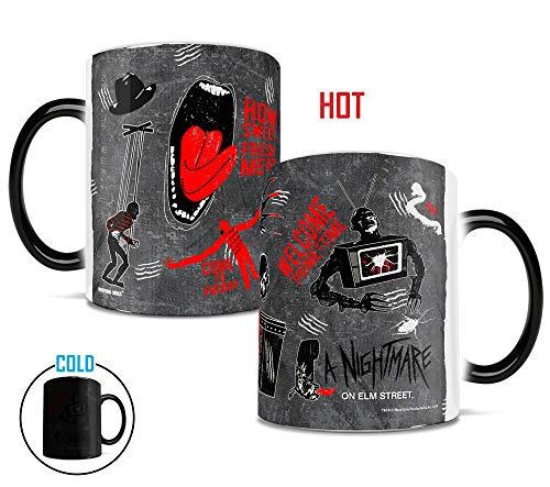Nightmare on Elm Street - Freddy Kruger - How Sweet Fresh Meat - Morphing Mugs Heat Sensitive Mug - Ceramic Horror Film Color Changing Heat Reveal Coffee Tea Mug - by Trend Setters Ltd