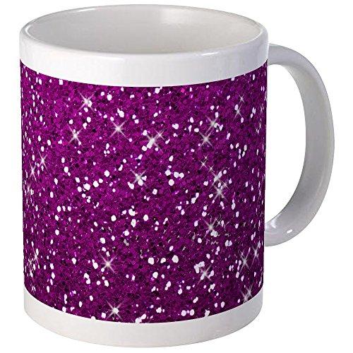 CafePress - Glittery Pink Glitters Sparkles Mugs - Unique Coffee Mug Coffee Cup