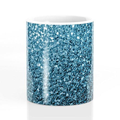 Society6 Beautiful Baby Blue Glitter Sparkles Mug 11 oz