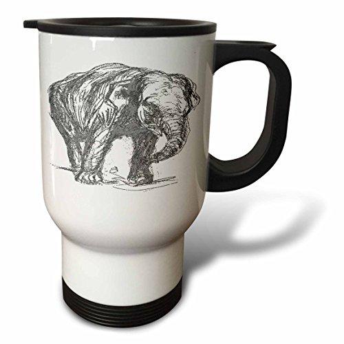 3dRose Elephant an Illustration of an African Elephant - Travel Mug 14oz Stainless Steel tm_167513_1