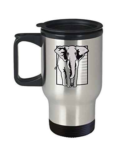 Elephant Travel Mug - Elephant Stripes - Stainless Steel Cup