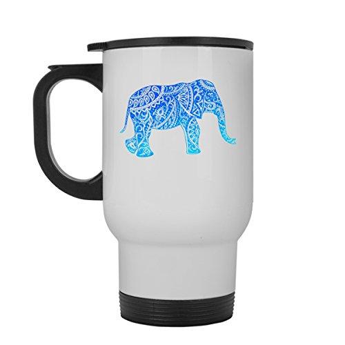 Elephant Travel Mug Elephant White Travel Mugs Ceramic For You And Your Family Travel Mug