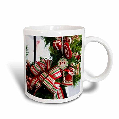 3dRose Peppermint Holiday Ceramic Mug 15-Ounce