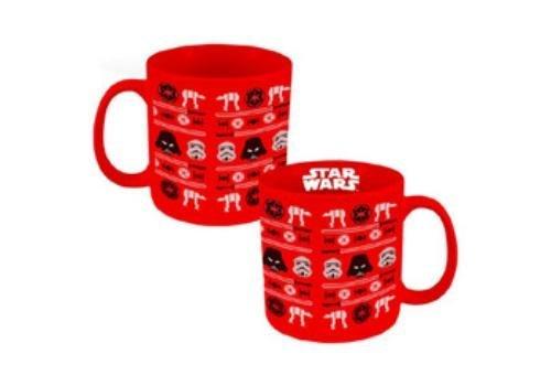 Vandor 99662 Star Wars Ugly Sweater Holiday Ceramic Mug 20 oz Red