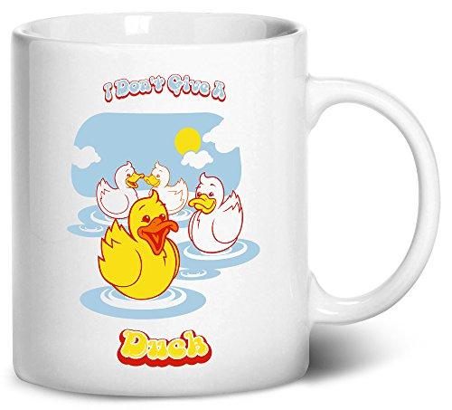 Tenacitee I Dont Give A Duck Coffee Mug 11oz White