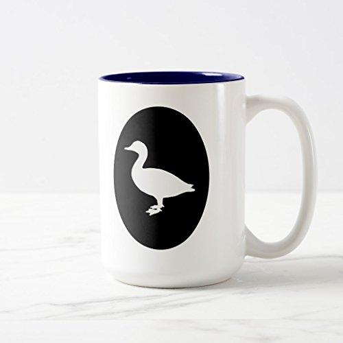 Zazzle Sheldrake Duck Coffee Mug Navy Blue Two-Tone Mug 15 oz