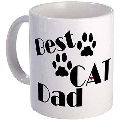 11 ounce Mug - Best Cat Dad Mug - S White
