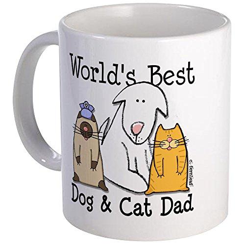 CafePress - Worlds Best Dog And Cat Dad Mug - Unique Coffee Mug Coffee Cup