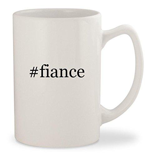 fiance - White Hashtag 14oz Ceramic Statesman Coffee Mug Cup