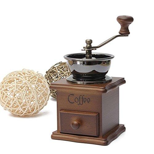 Vintage Manual Coffee Grinder Burr Coffee Bean Grinders Hand Coffee Mill Grinder Portable Hand Crank Coffeemakeras shown
