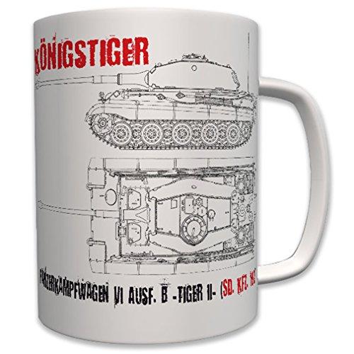 King Panzer Battle Tank VI Tiger II Military Army - Coffee Cup Mug