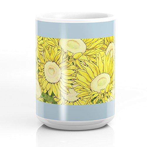 Society6 Kansas In Flowers Mug 15 oz