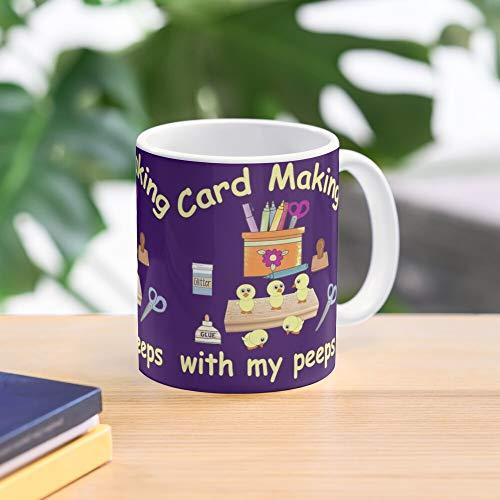 Card Cardmaking Peeps Spring Mug Making With Easter Top Selling 11 Ounce White Ceramic Novelty Gift Mug 2020
