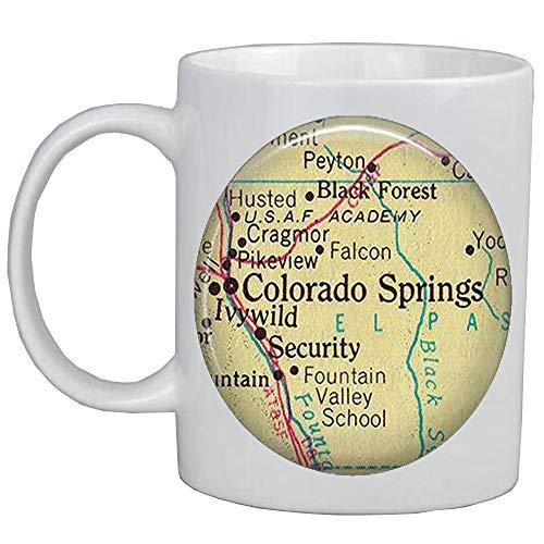 Fashion Coffee Mug Colorado Springs map Coffee MugColorado Springs map Mug Colorado Springs Mug Colorado Springs Coffee Mug,A0020