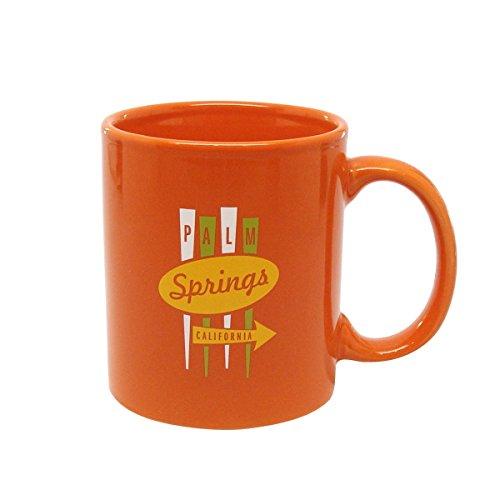 Palm Springs Desert Modern Oasis Sign Coffee Mug Orange