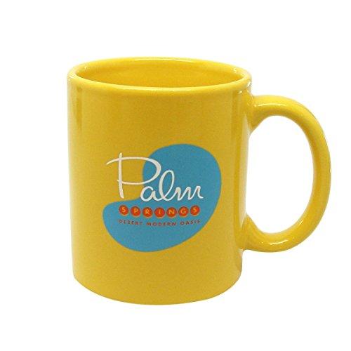 Palm Springs Pool Coffee Mug Yellow