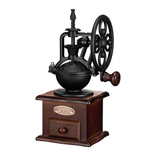 Manual Coffee GrinderIMAVO Vintage Style Wooden Coffee Grinder Roller Grain Mill Hand Crank Coffee Grinders