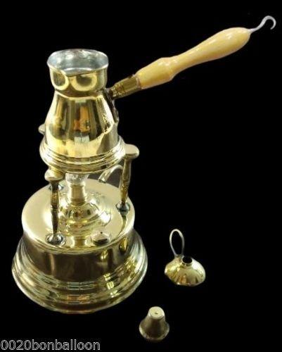 Brass Turkish Coffee Maker Alcohol Burner  Pot Ibrik