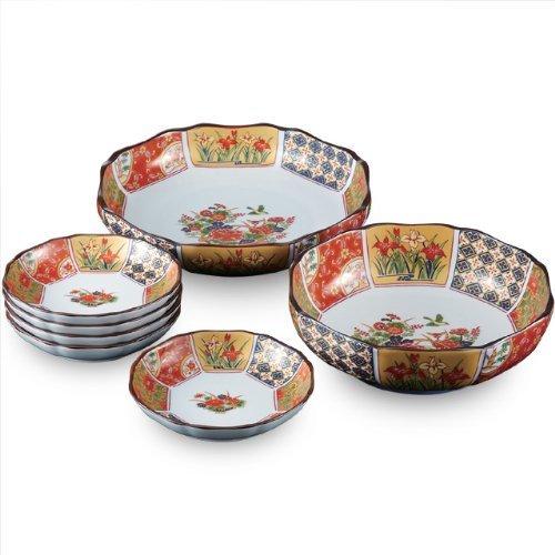 CtoCJAPAN Ceramic Plate Set 7pcs Premium Quality Porcelain Made in Japan No396048
