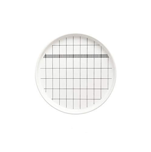 TangFeii Ceramic Plate Set Household Round Dish Plate Steak Plate Simple European Flat Plate Breakfast Plate 10 Pack