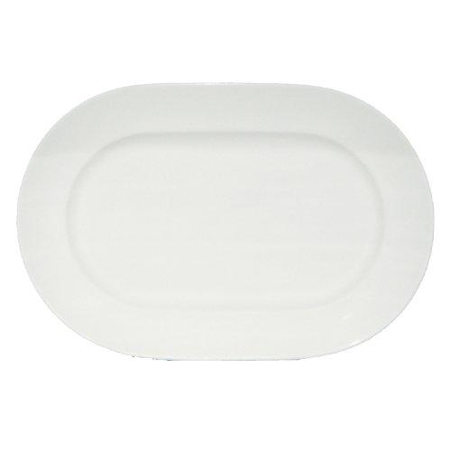 Fortessa Fortaluxe Superwhite Vitrified China Dinnerware Cassia 12 58-Inch Oval Platter