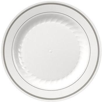 Masterpiece Premium Quality Heavyweight Plastic Plates 100 Dinner 100 Salad Plate