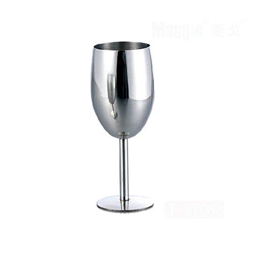 Angelduck Stainless Steel Goblets Drop Wine Glass Style B