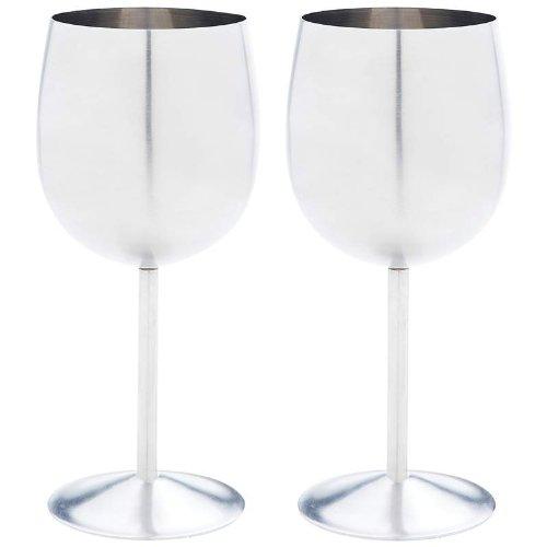 BNFUSA KTWGLS 2 Piece Stainless Steel Wine Goblet Set NA
