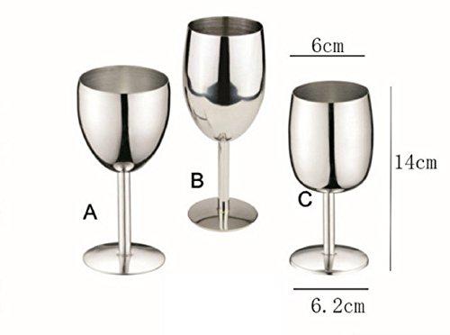 Navpeak Stainless Steel Wine Goblet Red&White Wine Cup SingleB
