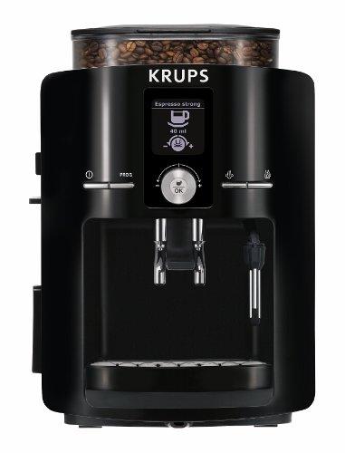 KRUPS EA8250 Espresseria Super Automatic Espresso Machine Coffee Maker with Built-in Conical Burr Grinder 60-Ounce Black