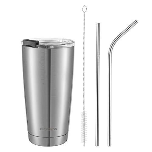 BESTONZON Stainless Steel Tumbler with Lid 20oz Vacuum Insulated Tumbler Set Coffee Mug Stainless Steel Tumbler with StrawTravel Mug for Ice Drink Hot Beverage
