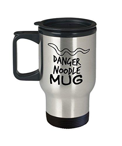 Danger Noodle Travel Mug Snake 14oz Stainless Steel Tumbler For Your Favorite Cold or Hot Beverage