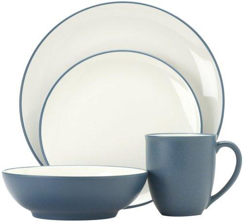 Noritake Colorwave Blue 16-Piece Dinnerware Set Service for 4