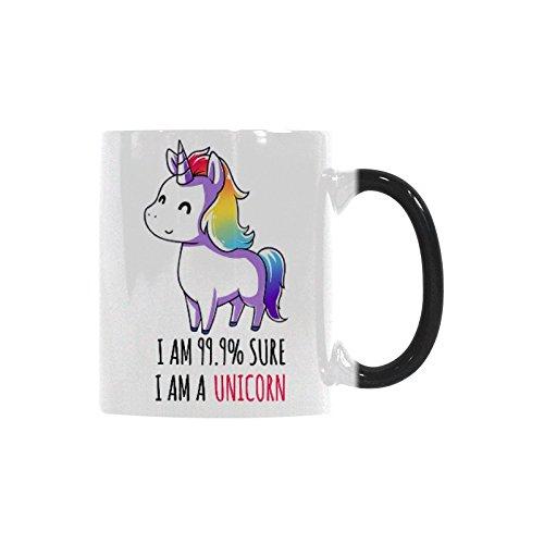 Funny Unique Unicorn Mug - I Am 999 Sure I Am A Unicorn Coffee Mug Funny Mug Morphing Changing Color Heat Reveal Tea Cup 11oz