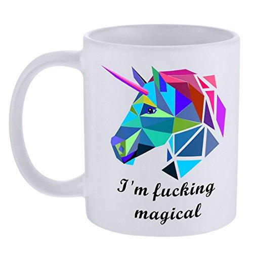 MJARTORIA Funny Im fucking magical Unicorn Coffee Mug Tea Cup Gift