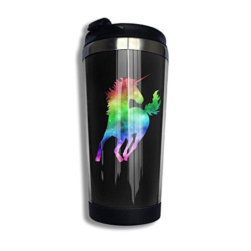 Rainbow Galaxy Unicorn Coffee Mug Tumbler Travel Mug Tumbler Water Bottle Stainless Steel 134oz
