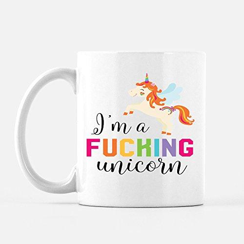 Sarcastic Unicorn Coffee Cup 11 oz Ceramic Mug Fun Gift