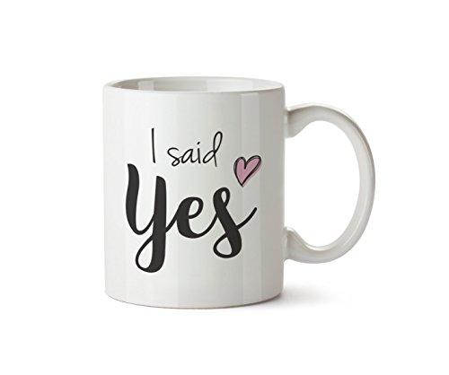 I Said Yes Mug Design Wedding Gift Wife Love Anniversary 10oz Coffee Cup Tea