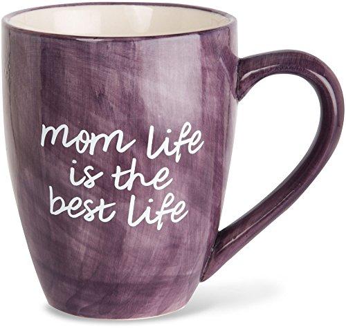 Mom Life 85205 Mom Life is the Best Life Deep Purple Large 20 oz Ceramic Coffee Mug Tea Cup Purple