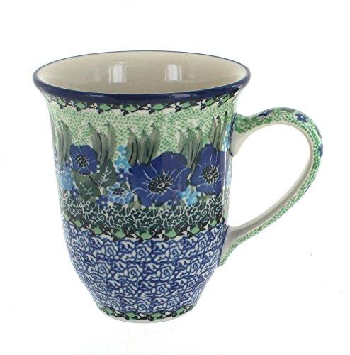 Polish Pottery Sapphire Fields Large Coffee Mug