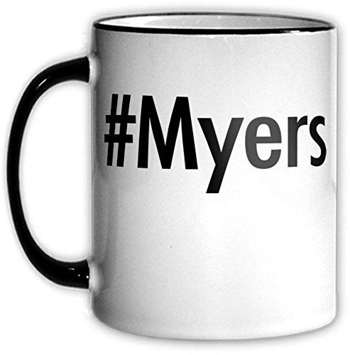 Hashtag Myers Mug Myers Coffee Tea Dishwasher Safe Parody 11 OZ Funny Office Hash Tag