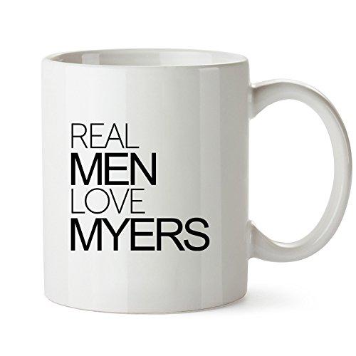 Idakoos - Real men love Myers - Last Names - Mug
