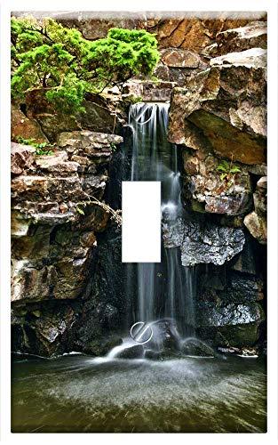 Switch Plate Single Toggle - Waterfall Landscape Botanical Garden Bochum