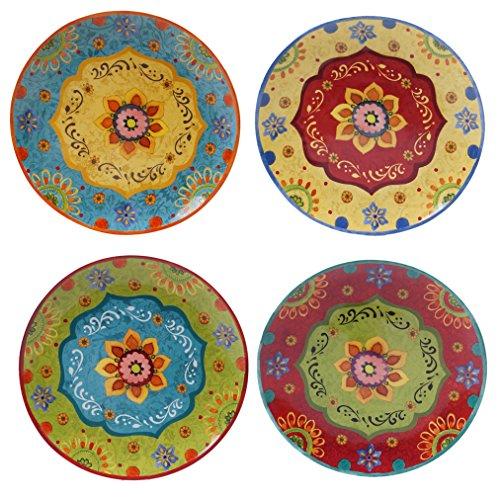 Certified International 22450SET4 Tunisian Sunset Dinner Plates Set of 4 105 Multicolor