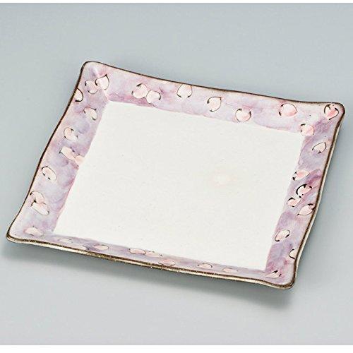 Japanese Ceramic Porcelain kutani ware Serving dish Salada plate Flower of cherry blossom Japanese ceramic Hagiyakiya 203