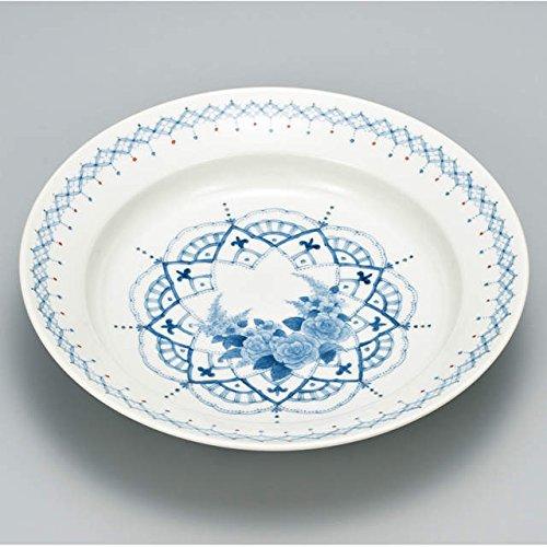 Japanese Ceramic Porcelain kutani ware Serving dish Salada plate Reaf and flower Japanese ceramic Hagiyakiya 240