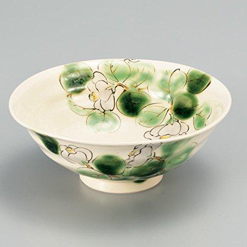 Japanese Ceramic Porcelain kutani ware Serving dish Salada plate White Camellia Japanese ceramic Hagiyakiya 223