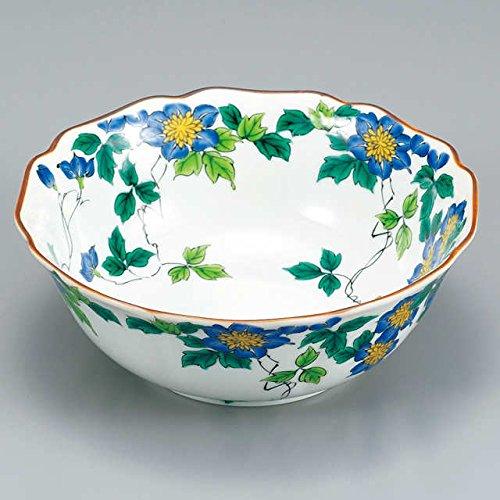 Japanese Ceramic Porcelain kutani ware Serving dish Salada plate White Crematis Japanese ceramic Hagiyakiya 219